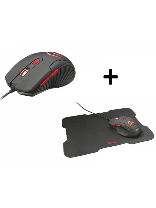 Mouse Trust Ziva 6 Botones + Pad Mouse Cubierta Goma
