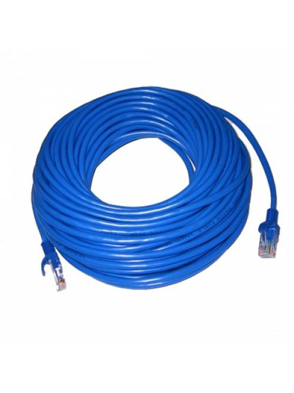Cable De Red Patch Cord 10 Mts Cat 6 Azul