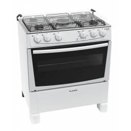 Cocina James C 150 B Inox 5 Hornallas E.Electrico Linea Blanca