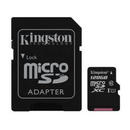 Memoria Micro Sd 128gb Kingston Clase 10  + Adaptador