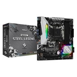 Motherboard Asrock B450m Steel Legend AMD B450 Am4 Ddr4