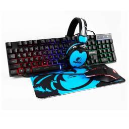 Combo Gamer Razeak Teclado+Auriculares+Mouse+Mousepad