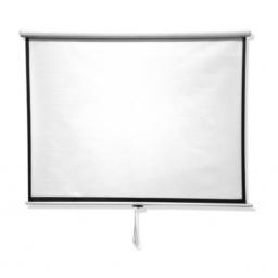 Pantalla Para Proyector Blanco Mate 100Pulg Retráctil