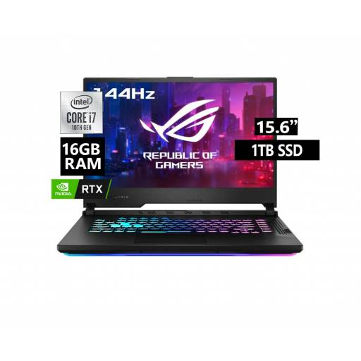 Notebook Asus Core i7 16Gb 1Tb SSD 15.6 FHD 144Hz RTX2060