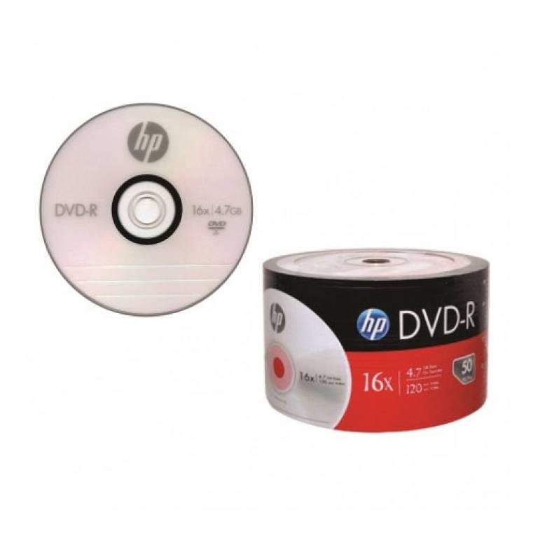 Dvd-R Hp X16 4.7 Gb 120 Min Video 50 Unidades Bulk