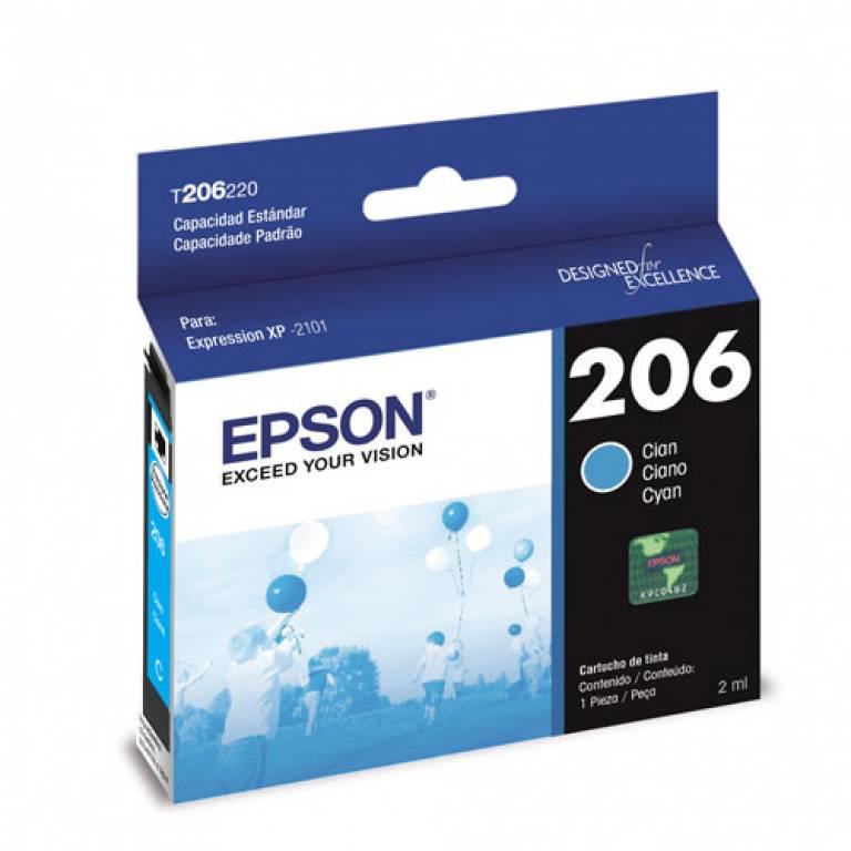 Cartucho Epson 206 Cian Xp 2101 150 Copias