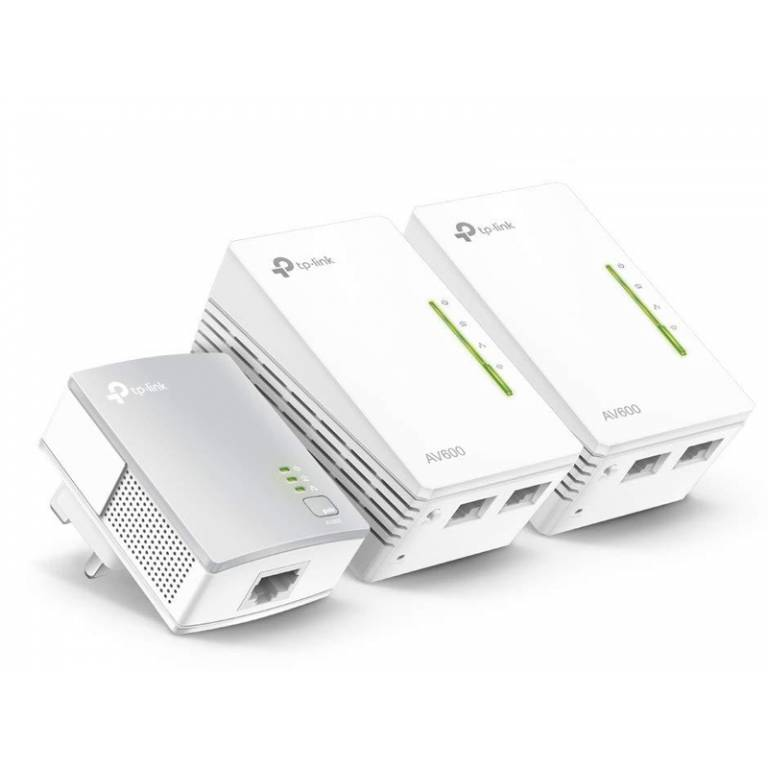 Powerline WiFi TpLink 4220 Kit x3 2 Puertos Ethernet 10/100Mbps