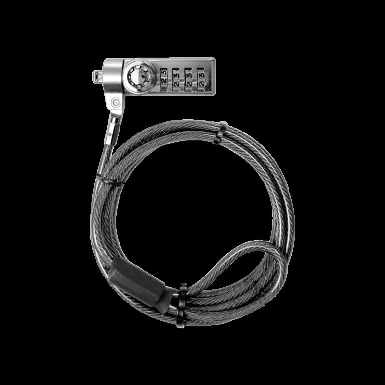 Cable de seguridad con combinación y llave Klip Xtreme