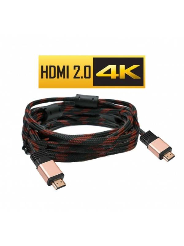 Cable HDMI M/M 2.0 FullHD 4K 5 Metros Con Filtros