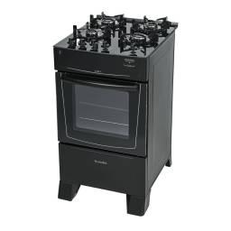 Cocina a Gas James C 690 V 4 Hornallas Negro