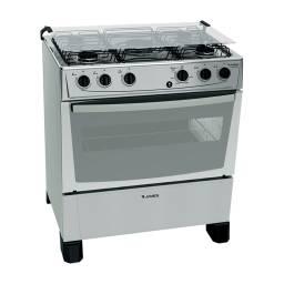 Cocina a Gas James C150B 5 Hornallas Mesa Inox Titanium