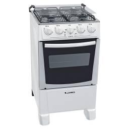 Cocina Combinada James C-205 B 4 Hornallas Mesada Acero Inoxidable Blanca
