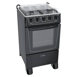 Cocina James C 105 B 4 Hornallas E.Electrónico Negra