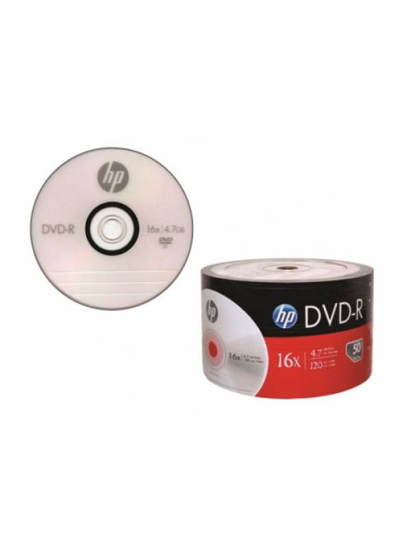 Dvd-R Hp X16 4.7 Gb 120 Min Video 50 Unidades Bulk