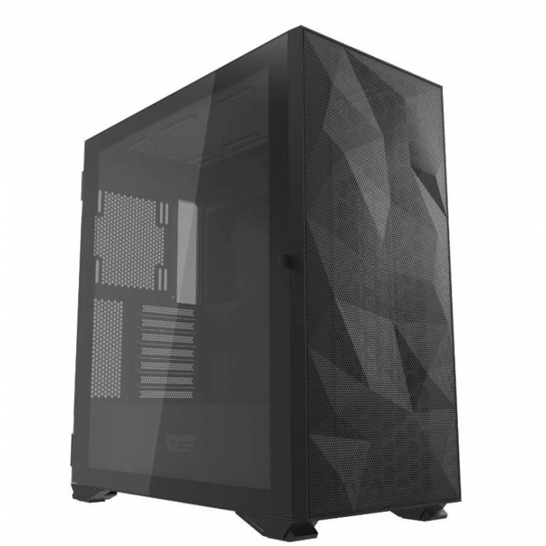 Gabinete Darkflash DLX21 Negro + Kit de 3 Fanes Perseo RGB Gamer