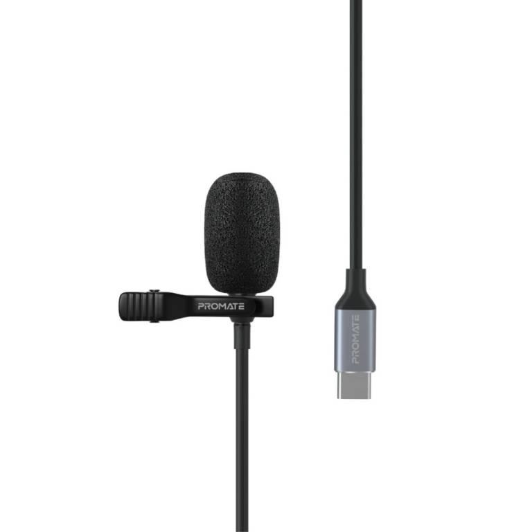 Micrófono Promate ClipMic-C Portátil Puerto USB-C