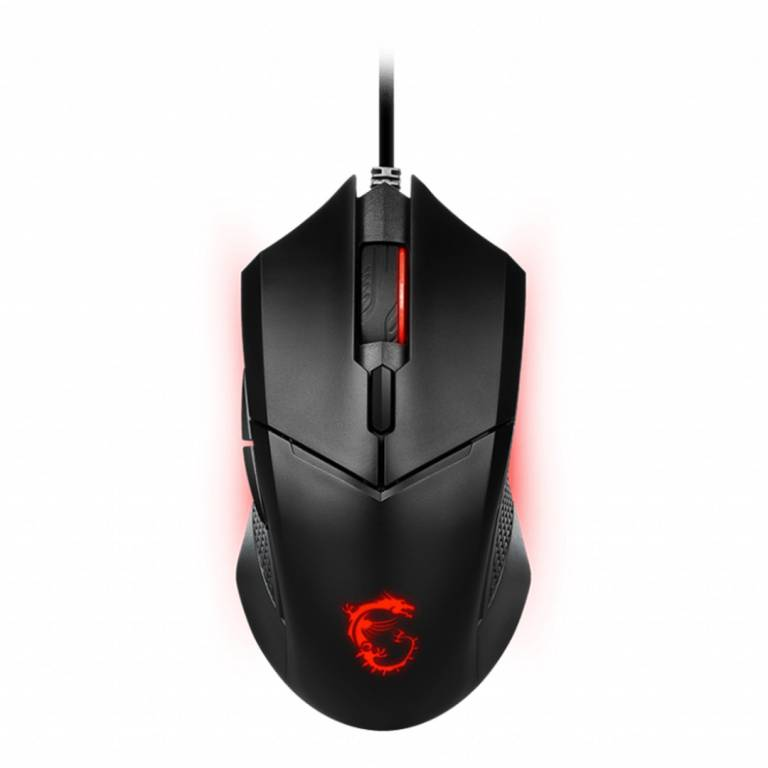 Mouse Gamer MSI Clutch GM08 Óptico Cable USB Negro