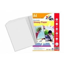 Papel Fotográfico Adhesivo A4 Wox 130grs x 50 uds Brillante