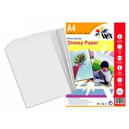 Papel Fotográfico Wox Glossy A4 180grs 20 Unidades