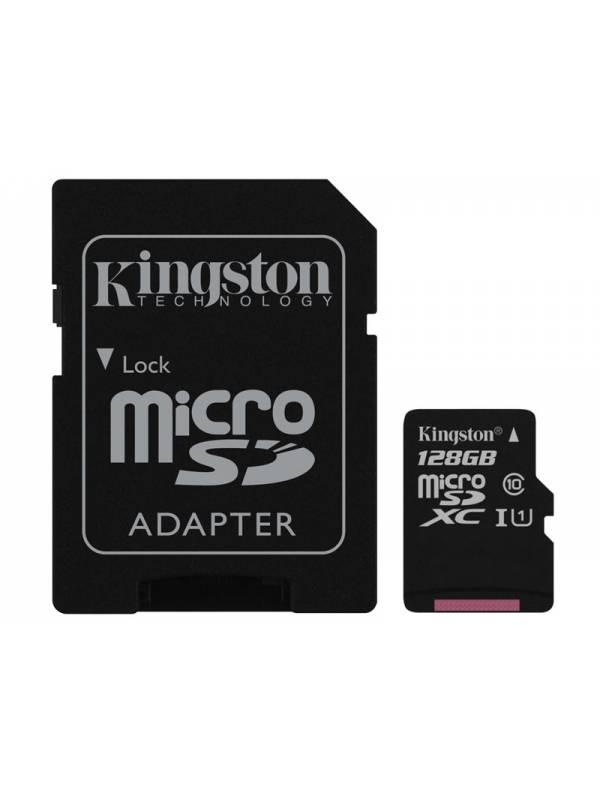 Tarjeta Memoria Kingston Micro Sd 128 Gb + Adaptador