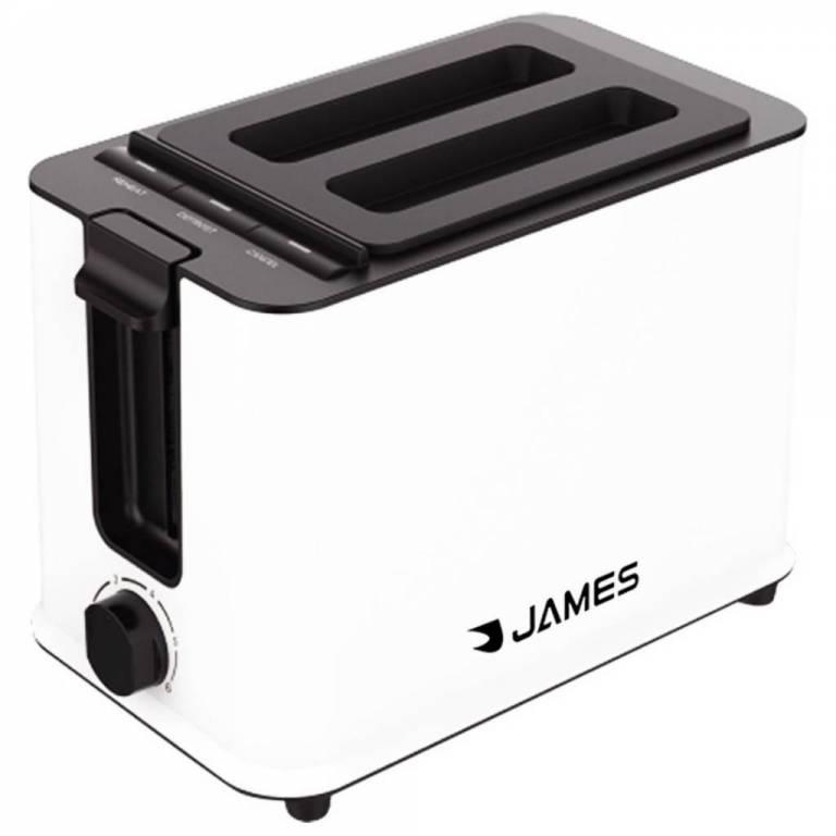 Tostadora James 2 Rebanadas 6 Niveles Temporizador Blanca