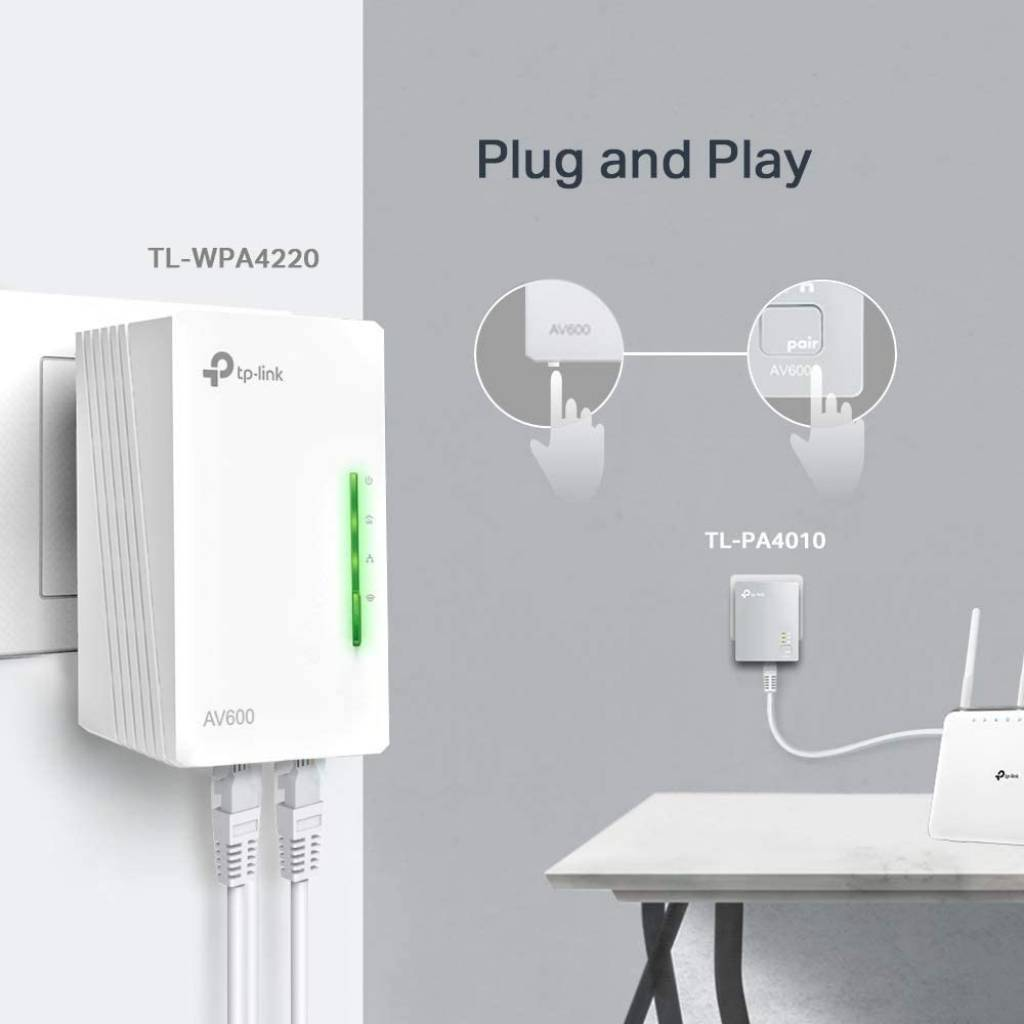 Kit Tplink Wpa 4220 Wpa Wifi Por Red Eléctrica Potencia Nnet